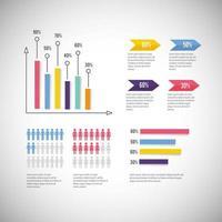 infographic bedrijfsdiagram met informatiestrategie vector