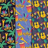 setgorgorunds met masker en trompetten decoratie vector