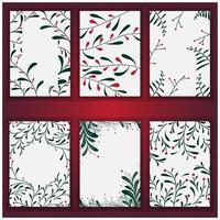set van kerstboom achtergrond en textuur vector