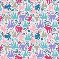 bloem bloesem naadloze patroon gebladerte achtergrond