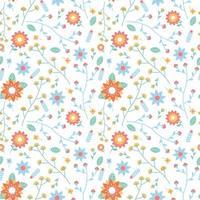 bloem bloesem en bladeren naadloze patroon