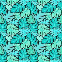monstera naadloos patroon vector