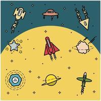 Space Explorer-objecten achtergrond
