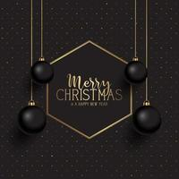 Zwarte en gouden kerst achtergrond vector