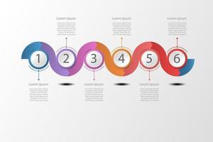 Concept golvende tijdlijn infographic illustratie. vector
