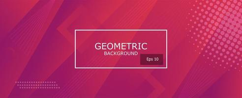 violette en roze abstracte gradiënt geometrische vormenachtergrond