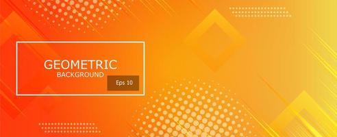 zacht en donker oranje met gele abstracte gradiënt geometrische vormen achtergrond