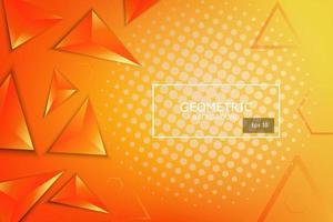 zacht en donker oranje met gele abstracte gradiënt driehoek geometrische vormen achtergrond