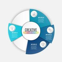 Sjabloon voor diagram, grafiek, presentatie en grafiek