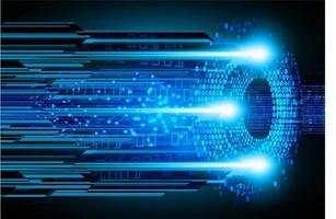cyber circuit toekomstige technologie vector