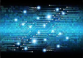Blauwe cybercode vector