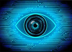 Blue eye cyber circuit toekomstige technologie