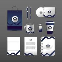 Set van zakelijke bedrijf stationaire sjabloon met documenten