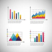 infographic bedrijfsdiagram met informatiestrategie