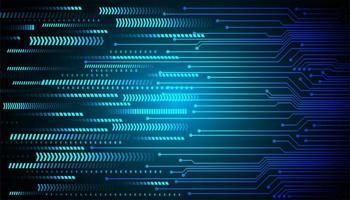 Blauwe pijl cyber circuit toekomstige technologie concept achtergrond vector