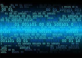 Blauwe binaire cybercircuit toekomstige technologie