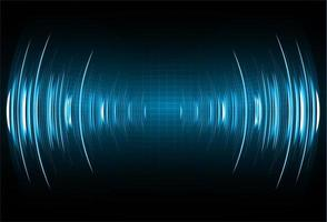 Geluidsgolven oscilleren donkerblauw licht vector