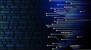 Blauw cybercircuit toekomstig technologieconcept vector