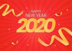 2020 Achtergrond met linten vector