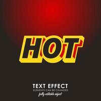hete brief met gedetailleerd teksteffect met modern 3d ontwerp vector