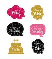 instellen chat bubble met gelukkige verjaardag bericht
