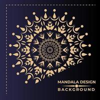 Gouden en zwarte mandala