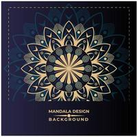 Moderne Gouden Mandala-achtergrond