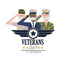 veteranen nationale dag tot leger troepen viering vector