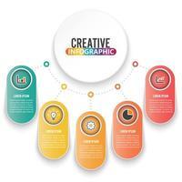 Sjabloon voor abstract infographics aantal opties vector