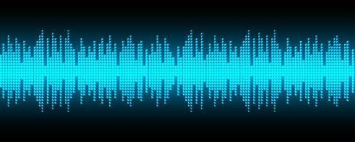 Digitale pixel geluidsgolven vector