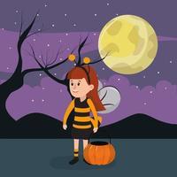 Halloween bijenmeisje vector
