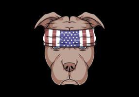 pitbull hond hoofd vectorillustratie vector