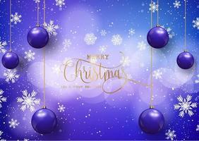 Kerstmis en Nieuwjaar achtergrond met kerstballen