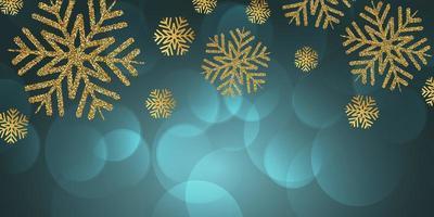 Glitter sneeuwvlokken Kerst banner ontwerp