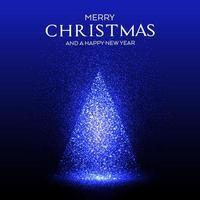 Gloeiende sparkles kerstboomontwerp