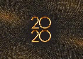 Gelukkig Nieuwjaar achtergrond met gouden stippen en cijfers