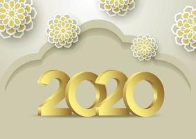 2020-achtergrond voor uw seizoensgebonden flyers en begroetingen Uitnodigingen met een kaartthema
