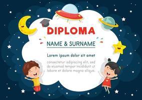Vector Illustratie Van Preschool Kids Diploma