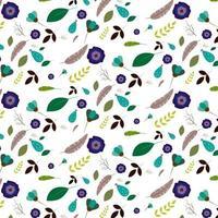 bloem en blad patroon op witte achtergrond vector