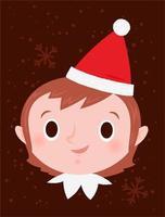 Kerst elf meisje