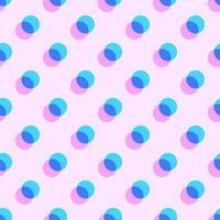 Geometrische Pastel overlappende cirkels patroon