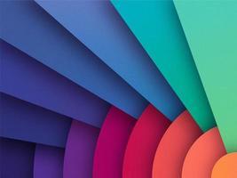 Overlappende kleurrijke papier achtergrond vector