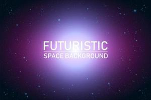 Abstract futuristisch ruimteperspectief vector