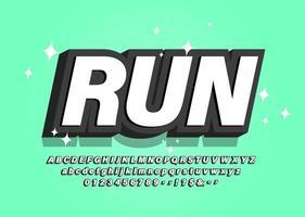 Gestileerd vet 3d lettertype