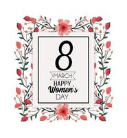 Women's Day Card vector