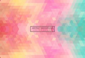 Abstracte driehoek patroon kleurrijke vintage achtergrond vector