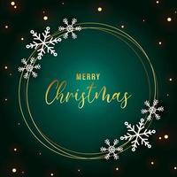 Elegant christmas achtergrond met sneeuwvlok frame