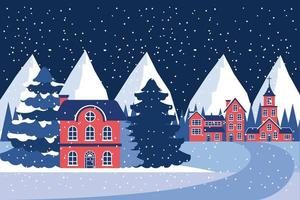 winter vakanties kerstmis vector