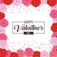 Happy Valentine's Day viering met bloemen