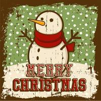 Merry Christmas Vintage bewegwijzering Poster vector